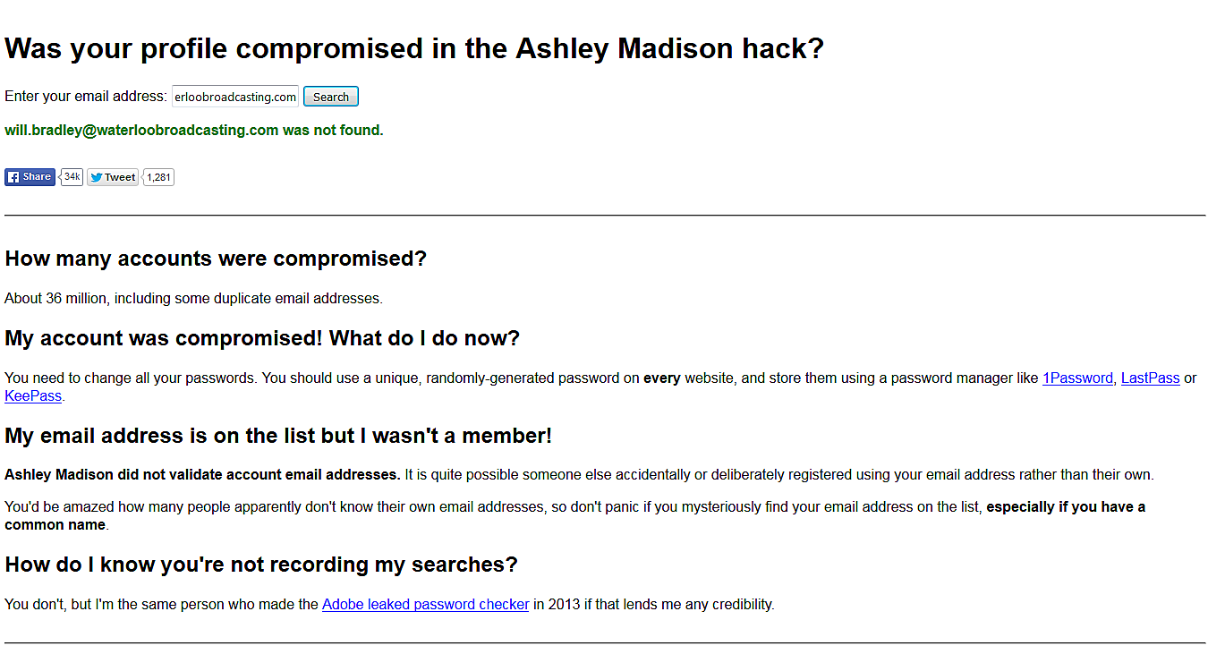 find your ashley madison-cheating spouse with just their e-mail