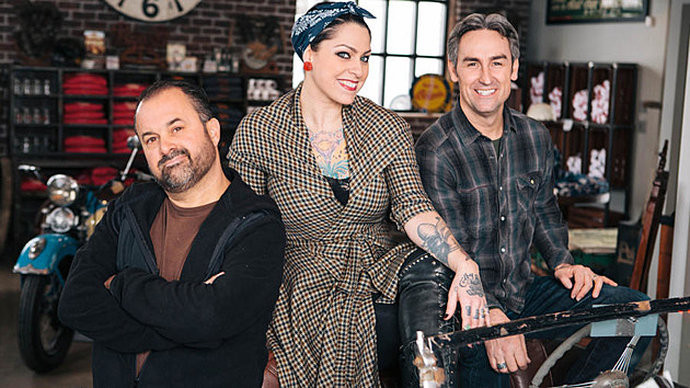 Frank Fritz, Danielle Colby-Cushman & Mike Wolfe from 'American Pickers' (Photo: History Channel)