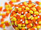 Bowl of candy corn close-up