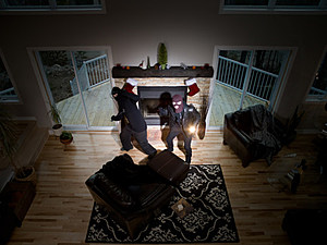 Two burglars inside home