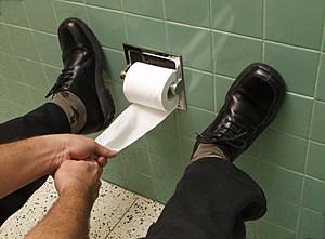Hard toilet.
